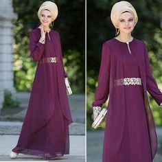 Hijab Fashion, Fashion Dresses, Hijab Trends, Evening Dresses, Formal Dresses, Islamic Fashion, Mode Hijab, Hijab Outfit, Embellished Dress