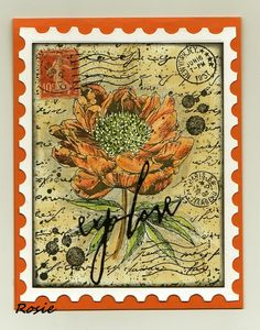 Rosie's Bastelwelt: Mail Art: Flowers