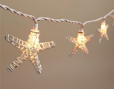 Starfish String Lights: http://www.completely-coastal.com/2016/05/beach-nautical-string-lights.html Now on sale. Perfect for your porch, patio or garden.