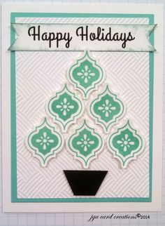Mosaic Stamps & Punch by Stampin Up used to create this Christmas Card.