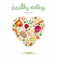 Background with bright healthy vegetables vector by Elmiko on VectorStock®