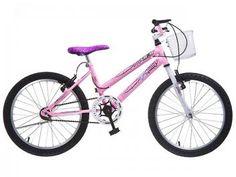 81591e6a19 Bicicleta Infantil Aro 20 Colli Bike Jully Rosa - com Cesta Freio V-Brake
