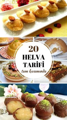 20 Different Halva Recipes Flavor-Flavoring Flavor - 20 Farklı Helva Tarif Köstliche Desserts, Delicious Desserts, Dessert Recipes, Yummy Food, Halva Recipe, Food Articles, Turkish Recipes, Food Print, Food And Drink