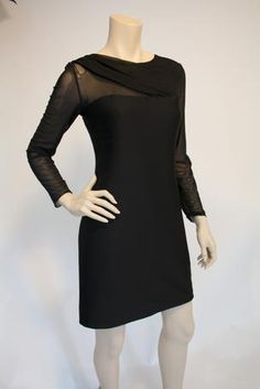 Dress with long sheer sleeves  - 82631 Dress with long sheer sleeves   Our Price: $129.99