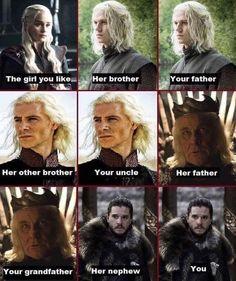 Aveces es dificil ser un Targaryen XD