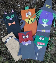 This should be a fun arts and crafts activity! Students can make monster puppets using construction paper or markers. Then they can act out a Halloween scene!