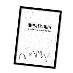 New in! #posters #interieur #zwartwit #amsterdam www.winkeltjevananne.nl