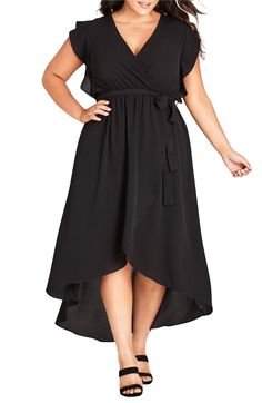 5dd54c59b03 This City City Chic High-Low Maxi Dress creates a waist for plus size apple