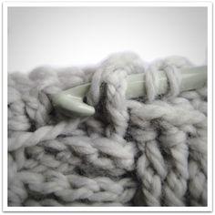 Basket weave crochet front