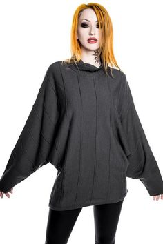 Stockholm Syndrome Slacker Knit Tunic [GREY]
