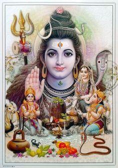 Lord Shiva Parvati Ganesha Murugan