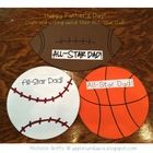 This is a great craftivity for Father's Day!  It comes with three different sports balls: basketball, baseball, and football and a writing element....