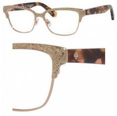 Kate Spade Eyeglasses Ladonna 0S41 Rose Gold Pink Havana