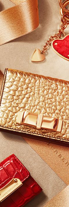 Little gifts featuring card cases, key charms and wallets - the Burberry festive gift collection