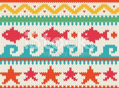 Knitted beach pattern royalty-free stock vector art