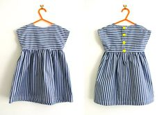 Free pattern sizes 18-24 & 2-3 years from Made By Toya - striped tunic dress