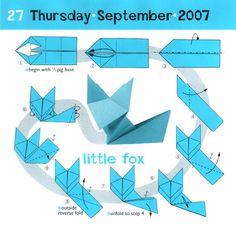 Origami Fox instructions - intermediate origami
