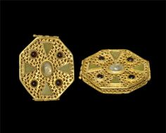 Byzantine Gold Openwork and Cloisonne Reliquary Box 6th-10th century AD.