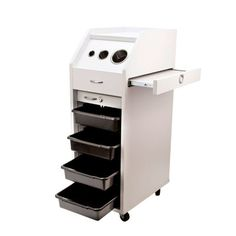 $168 - New Salon Trolley Cart HAIR PERM Beauty Salon Mobile Equipment WHT w/ Wheels