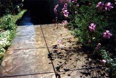 Coarse Sandstone seamless texture walkway.