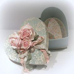 Beautiful covered heart box