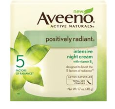 Trying out AVEENO® POSITIVELY RADIANT® Intensive Night Cream from #INFLUENSTER - smells great and ingredients are derived from natural ingredients!