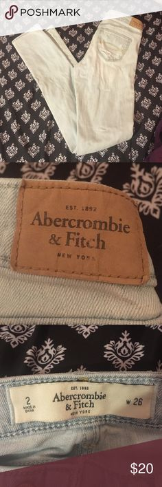 Light Abercrombie and fitch jeans size 2 Love these jeans! In new condition just to small for me, make an offer Abercrombie & Fitch Jeans Skinny