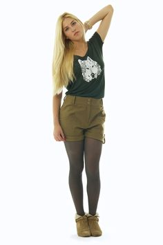 T-shirt WOLF sapin - Charlotte Sometime sur Twicy store.
