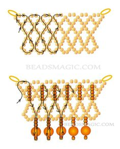 Free pattern for beaded necklace Santa Barbara U need: seed beads 11/0 round beads 6 – 8 mm