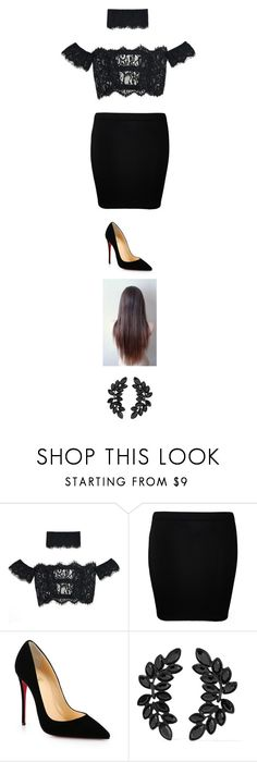 """""""Untitled #4041"""" by twerkinonmaz ❤ liked on Polyvore featuring WearAll, Christian Louboutin and Kenneth Jay Lane"""