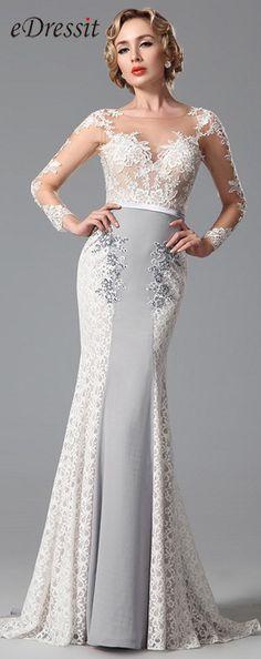 [USD 281.63] eDressit Applique Long Sleeves Evening Dress Formal Gown (02150808)