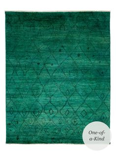 "Moroccan Hand-Knotted Rug (9'9""x7'10"") from Modern Eclectic on Gilt"