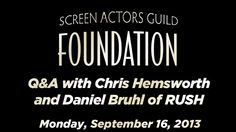 """Conversations with Chris Hemsworth and Daniel Bruhl of RUSH """"- What's it like to spend an entire movie when people keep calling You unattractive? - Uhm... Tough..."""""""