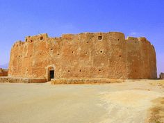 Qasr-al-haj  An incredible 12th Century Berber granary/fort in Libya. Made of mud and some sandstone, it has withstood the test of time amazingly well.