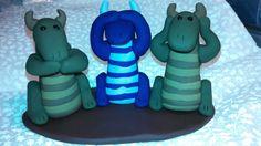Polymer Clay - Speak no Evil, See no Evil, Hear no Evil Dragons