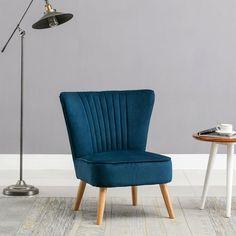 Velvet Cocktail Chair Midnight Blue