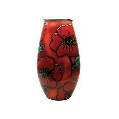 Buy Poole Pottery Poppyfield Manhattan Vase, H26cm   John Lewis