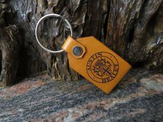 Austin Healey car key ring Double sided leather key chain, keyring 355 Car Key Ring, Leather Keyring, Austin Healey, Car Keys, Split Ring, Natural Leather, Cowhide Leather, Key Rings, Key Chain