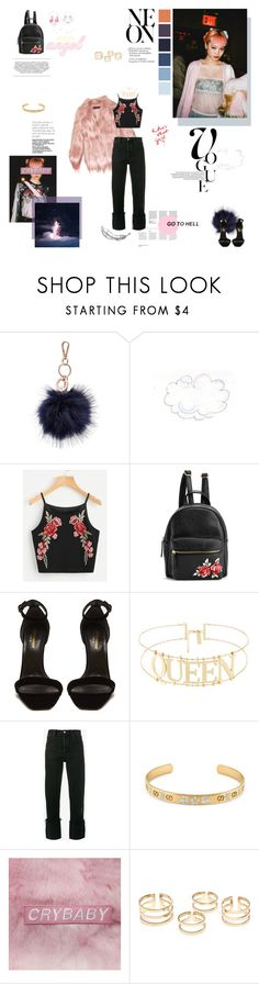 """there is someone walking behind you, turn around, look at me"" by virgotrash ❤ liked on Polyvore featuring Witchery, Gucci, Yves Saint Laurent, RE/DONE, modelsofcolor, FernandaLy and FernandaHinLinLy"