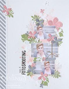 Scrapbook, Artisan Designteam, Layout, Fotoshooting, Pflanzen-Potpourri, Stempelwiese                                                                                                                                                                                 Mehr
