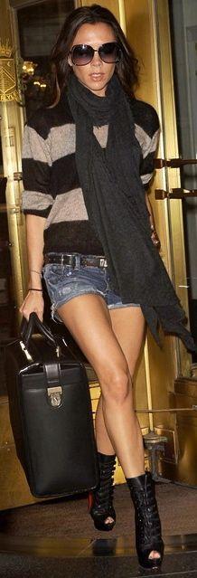 Victoria Beckham in Louboutin booties