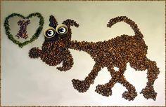 Coffee bean art is just as enjoyable as drinking a cuppa joe. These wonderful coffee bean art creations are the works of Irina Nikitina. Coffee Bean Art, Coffee Latte Art, Coffee Painting, Animals Images, Diy Home Crafts, Coffee Break, Best Coffee, New Art, Crochet Earrings