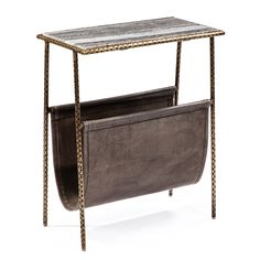 Shop Interlude  168047 Strauss Marble Magazine Table at The Mine. Browse our end tables, all with free shipping and best price guaranteed.