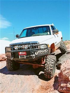 Check out this fullsize truck belonging to Hank Slocum of Golden, Colorado. It's a rock crawling 1997 Dodge Ram 2500 with Skyjacker suspension, Racho shocks and more inside & Off-Road Magazine. Lifted Dodge, Dodge Ram Pickup, Dodge Ram 2500, Dodge Cummins, Lifted Ram, Lowered Trucks, Ram Trucks, Dodge Trucks, Lifted Trucks