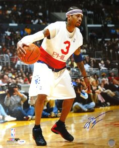 d8de985751d Allen Iverson Autographed 16x20 Photo Philadelphia 76ers All Star Game  PSA/DNA Stock #102510