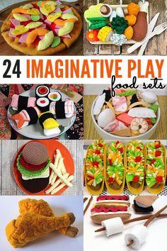 24 Fabulous Handmade Pretend Play Food Sets