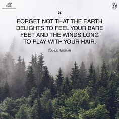 the earth delights to feel your bare feet and the winds long to play with your hair