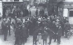 This photo was taken on the corner of North King Street and Church Street just a few minutes after Kevin Barry was arrested in 1920 .