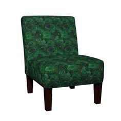 Maran Slipper Chair featuring Malachite 2 by ravynka | Roostery Home Decor