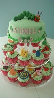 very hungry caterpillar cupcakes on cheap birthday cakes cardiff
